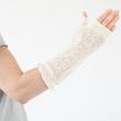 フォロイング UVカット指なしミドル丈手袋 オリーブ画像